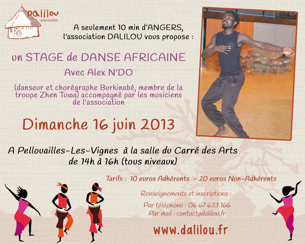 Stage de danse africaine près d'Angers, Maine-et-Loire