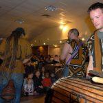 Représentation percussions africaines à Contigné, près d'Angers (Maine-et-Loire)