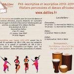 Pré-inscription et inscription 2013-2014 : ateliers percussions et danses africaines à Angers, en Maine-et-Loire