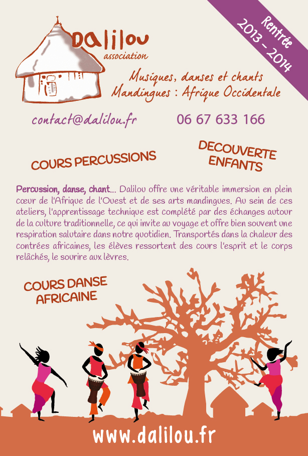 Programmes 2013-2014 : danse et percussions africaines