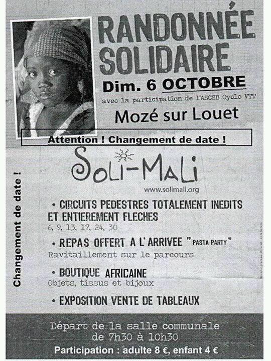 Randonnée solidaire à Mozé sur Louet, Soli-mali