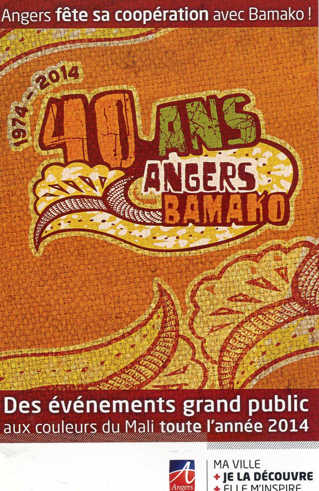 Calendrier Evénements 40 ans du jumelage Angers-Bamako