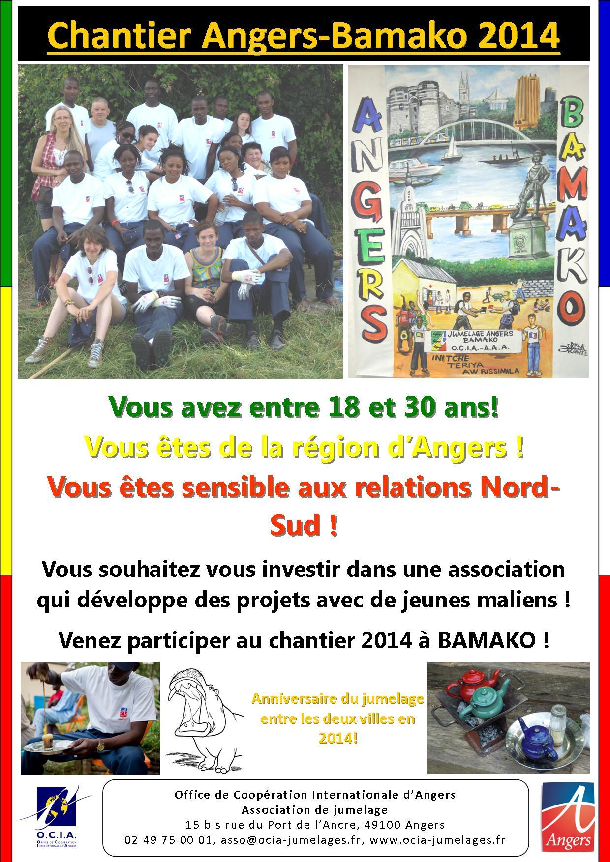 OCIA, Chantier de coopération Angers - Bamako