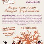 Cours de percussions et de danses africaines près d'Angers, Maine-et-Loire