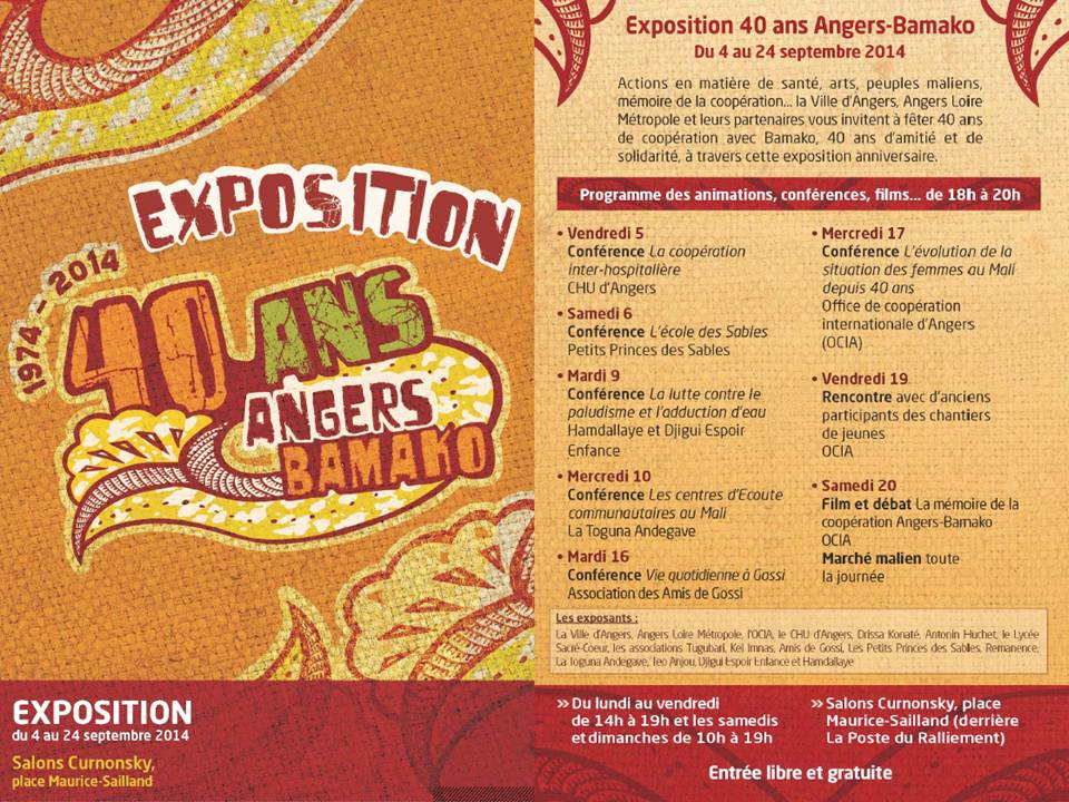 Exposition 40 ans Angers-Bamako