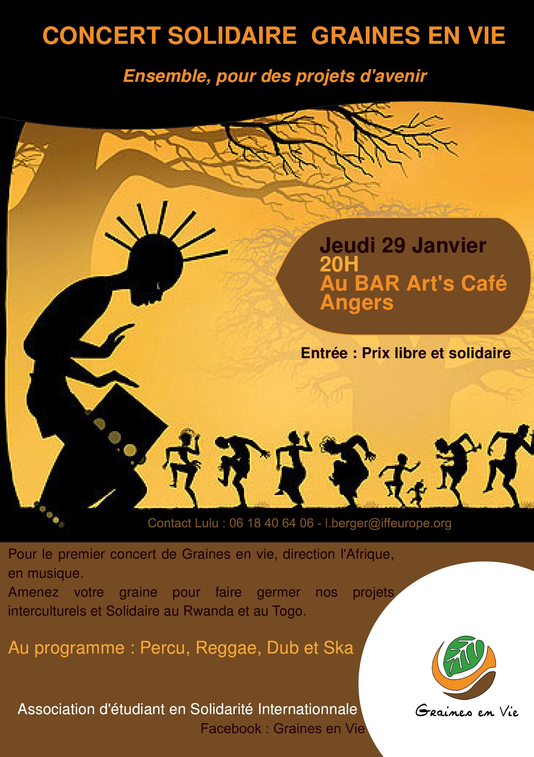 concert solidaire graines en vie à Angers