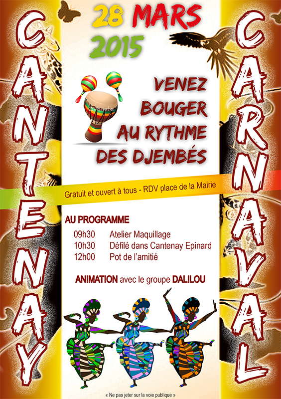 Un groupe de percussions au carnaval de Cantenay-Épinard