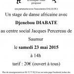 Stage de danse africaine à Saumur, Maine-et-Loire
