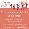 reprise des cours de danse africaine à Angers, Maine-et-Loire