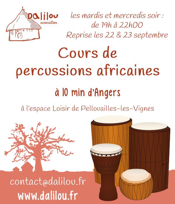 Reprise des cours de percussions africaines à Angers, Maine-et-Loire