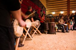 Animation de rue : percussions africaine, Maine-et-Loire