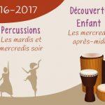 Inscription 2016-2017 : danse africaine, percussions près d'Angers