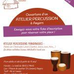 Ouverture d'un atelier percussions à Angers