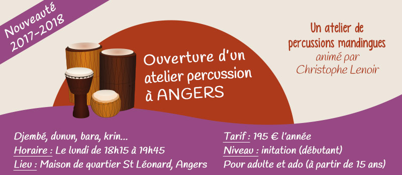 Atelier percussions Angers