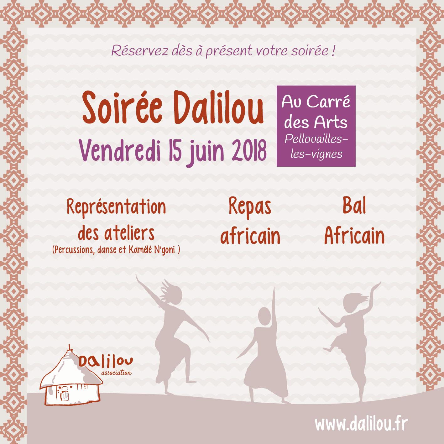 Soirée Dalilou : repas africain, bal africain