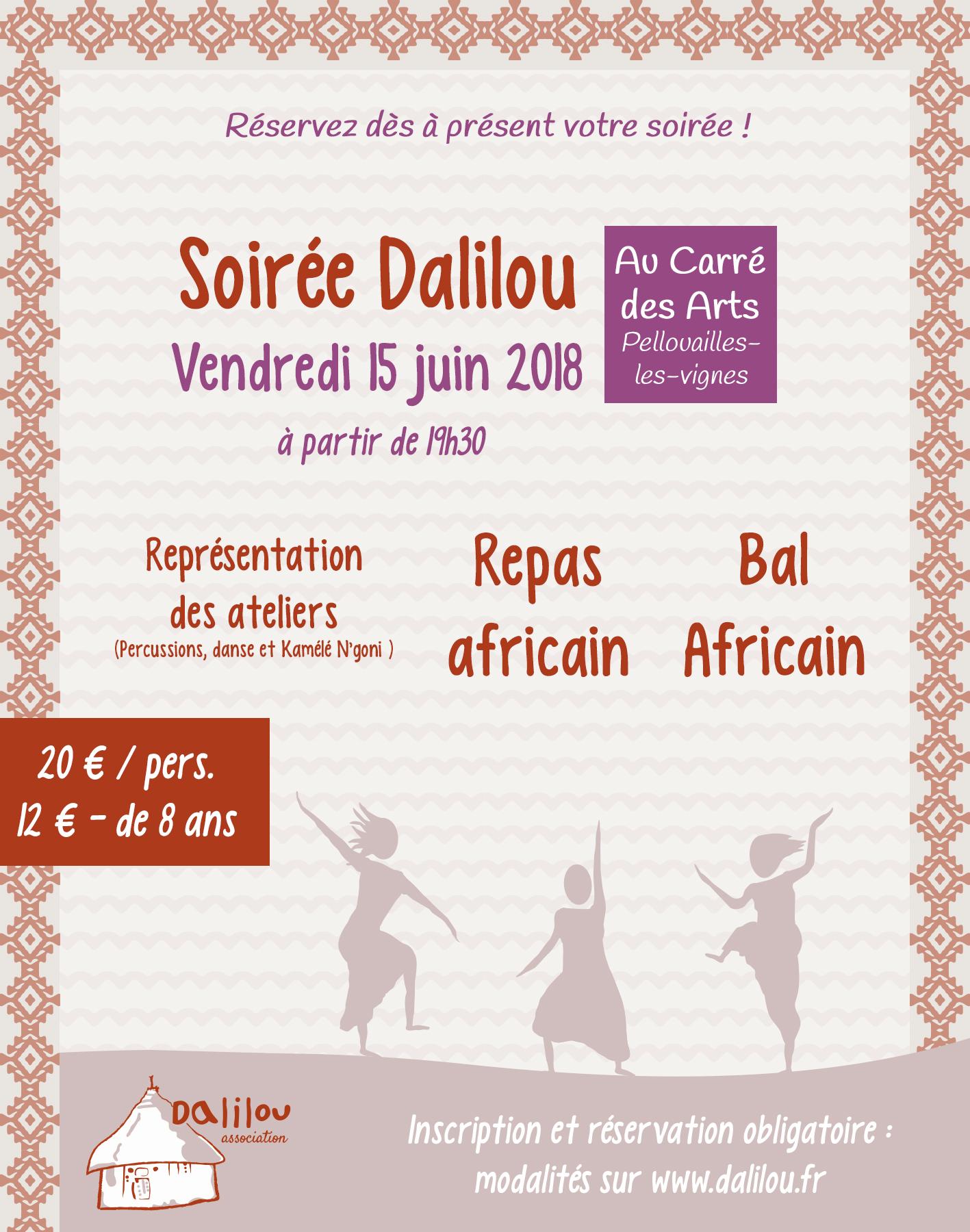 Soirée africaine près d'Angers - Association Dalilou
