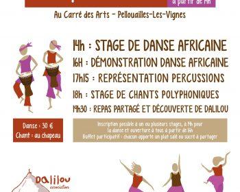 Stage de danse africaine et stage de chant Angers