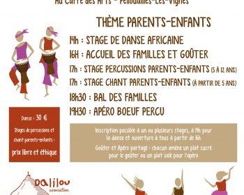 Stages de danse, percussions et chant - Afrique de l'Ouest : parents-enfants