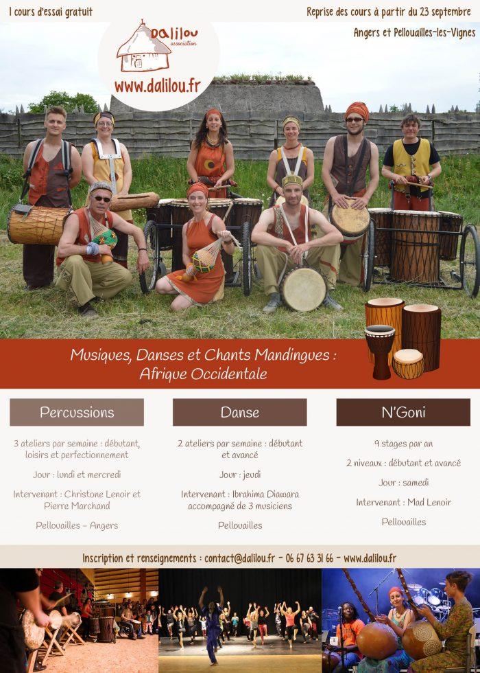 danse africane Angers, percussions et N'Goni